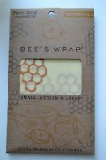 Bee's Wrap Assorted 3 Pack Re-usable Sustainable Bees Wax Storage