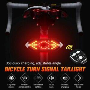 LED Fahrrad Rücklicht Bremslicht Blinker mit Remote Fernbedienung Kabellos DHL