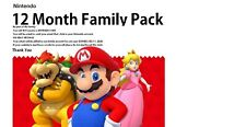 12 Month Nintendo Family Pack (READ DESCRIPTION)(EXPIRES JULY 1, 2020)