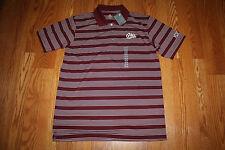 Nwt Mens Knights Apparel U Of Montana Griz Striped Short Sleeve Polo Shirt M