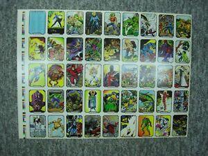 1989 MARVEL - JOHN BYRNE TRADING CARD SHEET - NICE & DESIRABLE