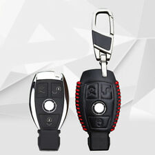 For Mercedes-Benz Car class B C E S PU Leather Car key Remote 3 Buttons covers
