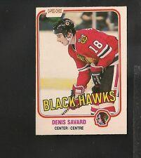 7074* 1981-82 OPC # 63 Denis Savard RC Ex-Mt