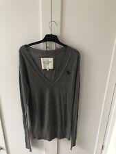 Women's Abercrombie & Fitch Long Sleeved Grey Sweater,Size M, BNW Size Sticker