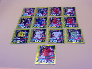 TOPPS MATCH ATTAX LOTE 13 TRADING CARDS RISING STARS 2020 2021