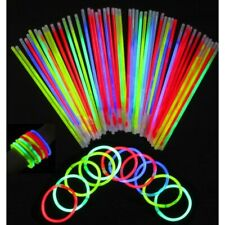 New 100pc Glow Color Sticks Party Bracelets and Necklaces Neon Sticks