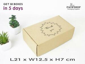 Packaging Boxes With LOGO Custom Printed Packing Postal Kraft Gift Box With Lid