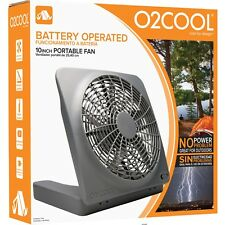 O2COOL 10-inch Battery Operated or AC Powered Portable Tilt Fan New Graphite