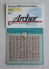 Archer 1/72 German WWII Outlined Turret Numbers (Red / White Outline) AR72038R