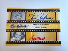 2011 Leaf Pop Century Loni Anderson & Rose Marie Dual Autograph CoStars #D 1/1