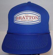 Vintage 1980s THE BRATTON CORPORATION Steel Manufacturer KC Snapback Hat Cap
