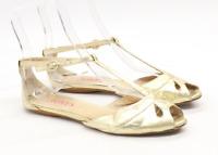 Jones Womens EU Size 38 Gold Sandals