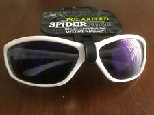 Spiderwire Polarized Fishing Sunglass White Frame Blue Lens NWT