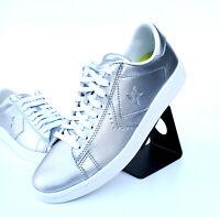 Converse Pro Leather LP Metallic OX Sneaker Damen Women Silber Silver 555947C