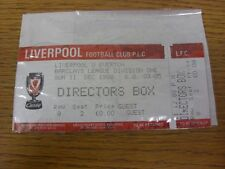 11/12/1988 Ticket: Liverpool v Everton [Directors Box] (complete). Thanks for vi