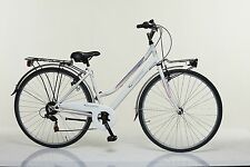"Bicicletta CITY DONNA STUCCHI S481  28"" acciaio shimano 6 V City Bike CITTA'"