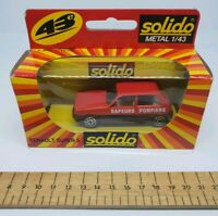 Solido Car, Renault Super 5 SAPEURS POMPIERS red 1:43 1211 rare diecast boxed