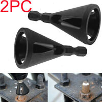 2pc Deburring External Chamfer Tool Drill Bit Remove Burr Stainless Steel Black