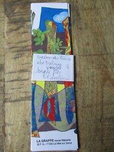 Lot Marque-pages puzzle-La grappe,revue littéraire-Le Mée sur Seine-Rares&signé!