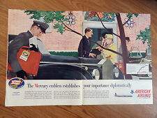 1957 Mercury American Airlines Ad Embassy Row Massachusetts Ave Washington DC