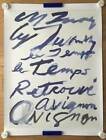 Cy Twombly 2011 France Avignon Paris Gallery A1 poster