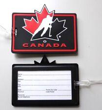 Canada hockey luggage bag jour Label Canada Toronto Montréal Hockey