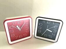 """Set of 2  Square Standing Clock 6"""" Great Gift and Room Decor"""