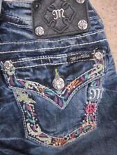 MISS ME JP5701P4 Flowers Flap Pocket Cuffed Capri jeans....size 24