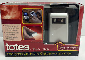 Totes Weather Works Emergency Cell Phone Charger w/ LED Flashlight