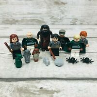LEGO Harry Potter Themed Characters Minifigures Bundle Hagrid, Hermione, Ron