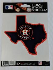 Houston Astros Home State Sticker Texas TX Die Cut Decal New Color Logo