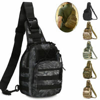 Tactical Chest Bag Backpack Outdoor Shoulder Military Travel Camping Hiking Bags