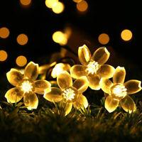 Solar 50 LED Fairy String Lights Crystal Globe Ball Waterproof Bulbs Garden