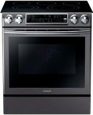 "Samsung Ne58K9500Sg 30"" Slide-in Electric Range Black Stainles"