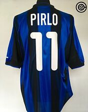 PIRLO #11 Inter Milan Nike Home Football Shirt Jersey 2000/01 (L) (XL)
