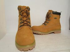 """Lugz Mens Kahn Leather 6"""" Casual Motorcycle Work Boots GoldWht/Bark/Tan/Gum 10 D"""