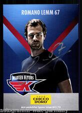 Romano Lemm kloten Flyers 2012-13 top ak ORIG. sign. hockey sobre hielo + a 58744