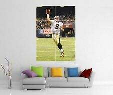 Drew brees new orleans saints géant xl wall art imprimé photo affiche J36