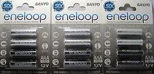 Sanyo Eneloop AAA NiMH Rechargeable Batteries 12 Pack