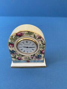 "Wedgwood ""Sarah"" English  Bone China Clock."