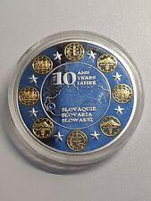10 Years Euro Excellent Condition Coin Swarovski Slovakia