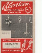 Aberdeen v Dunfermline 1963-1964