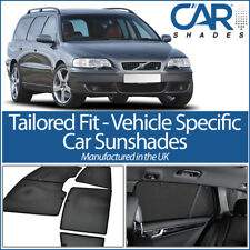 Volvo V70 Estate 01-07 UV CAR SHADES WINDOW SUN BLINDS PRIVACY GLASS TINT BLACK