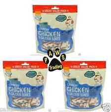 3 x Large Bag of Good Boy Pawsley Crunchy Chicken & Calcium Bones - 350g BARGAIN