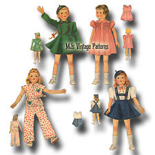 """Vtg 30s Doll Clothes Pattern ~ for 15"""" 16"""" Shirley Temple, Patsy, Portrait Movie"""
