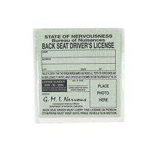Back Seat Driver Novelty Car License Funny Auto Prank Practical Joke Gag Gift