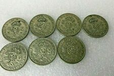 More details for ww2 1939-45 florin 2 shilling coin date run 6 coins of war home front 50% silver