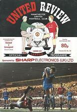 Manchester United v Liverpool - Div 1 - 3/2/1991 - Football Programme