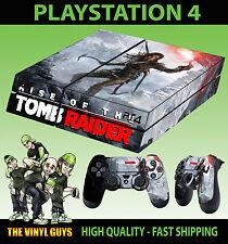 PS4 Skin Rise Of The Tomb Raider Lara Croft Cave Sticker + Pad decals Vinyl LAID