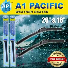 "All season Bracketless J-HOOK Windshield Wiper Blades OEM QUALITY 26"" & 16"""